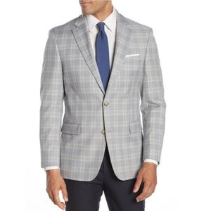 Tommy Hilfiger Grey Plaid Two Button Jacket